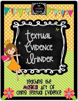 Textual Evidence Binder- Tracking Student Progress of Citi