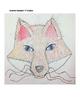 Texture Art Lesson Fox and Raccoon