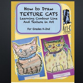 Texture Cat Art Lesson