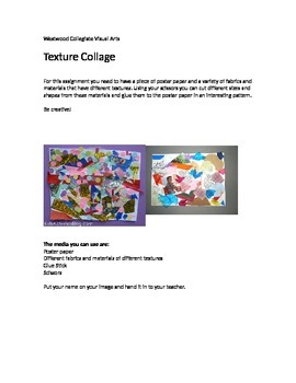Texture Collage- Special Needs