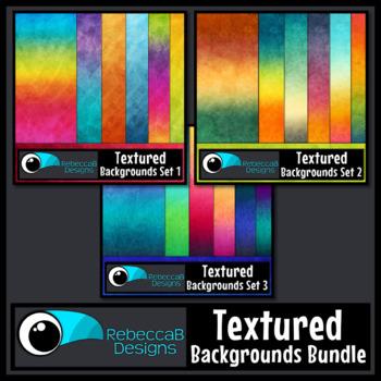 Textured Backgrounds Bundle: Textured Clip Art, Digital Paper