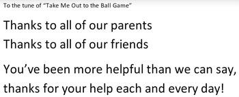 Thank You Baseball Song