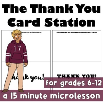 Thank You Card Station: Growing Leadership & Accountability