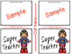 Thank You Cards {FREEBIE} Super Teacher Appreciation Day!