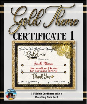 Thank You Certificate {Gold Theme} 1