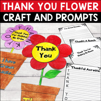 Thank You Flower Writing