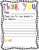 Thank You Letter Package -  Letter Form, Illustration Page