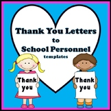 Friendly Letter Writing - Thank You Letters to School Staff