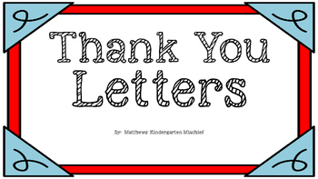 Thank You Letters