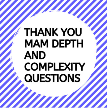 Thank You M'am Depth and Complexity Frame
