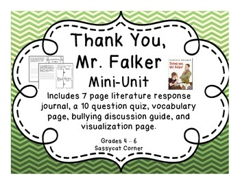 Thank You, Mr. Falker Mini Literature Unit