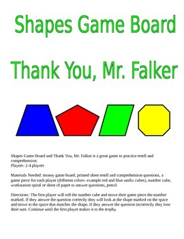 Thank You, Mr. Falker: Shapes Game Board