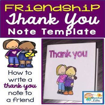 Thank You Notes: Write A Thank You Note To A Friend