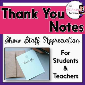 Thank You Notes for Teachers and Students