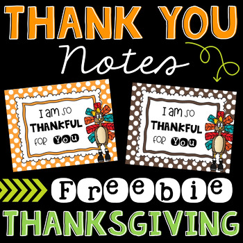 Thank You Notes for Thanksgiving (Free)