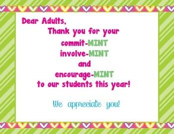 Thank You Parents sign