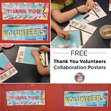 End of the Year Activities: FREE Thank You Collaboration Poster
