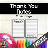 Thank You notes {freebie}
