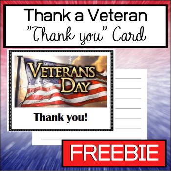 Thank a Veteran - Greeting Card (Freebie)