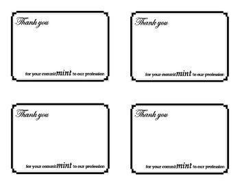 Thank you card with candy
