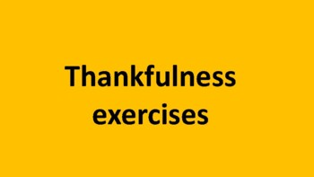 Thank you exercise