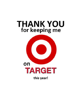 Thank you for keeping me on target this year