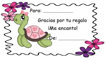 Thank you notes in Spanish