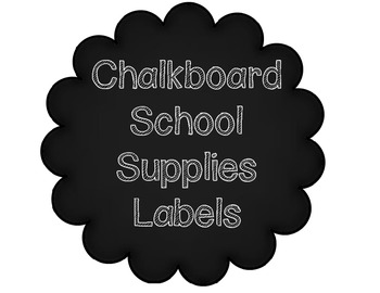 Thank you times 2!! School Supply Labels