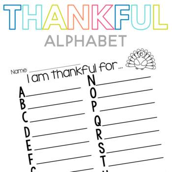 Thankful Alphabet Freebie