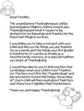 Thankful Bags Family Involvement Project