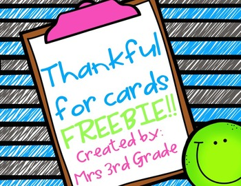 Thankful Cards FREEBIE!!