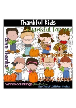 Thankful Kids Clipart Collection