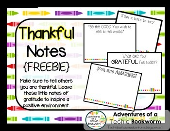 Thankful Notes {FREEBIE}