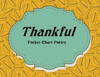 Thankful Pocket Chart Poem