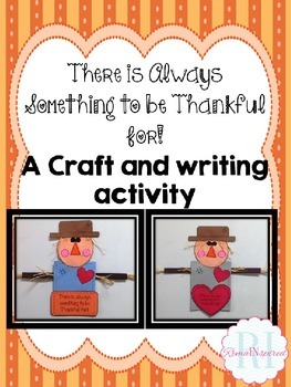 Thankful Scarecrow Craft and Writing