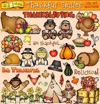 Thankful Smiles Clip Art Download
