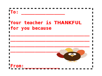 Thankful Teacher Card