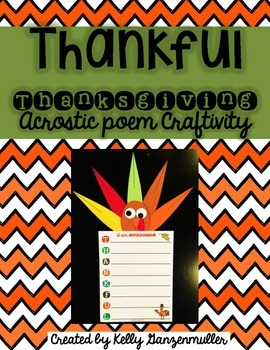 Thankful Thanksgiving Turkey Poem Craftivity