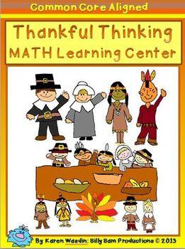 THANKSGIVING MATH! :Thankful Thinking MATH Activities