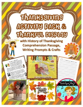 Thanksgiving Craft: Thankful Turkey Updated 2016