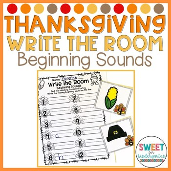 Thankful and Grateful Thanksgiving Write the Room- Beginni
