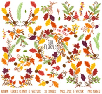 Thankgiving and Autumn Flower Clipart Clip Art - Commercia