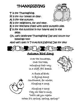 Thanks & Autumn Birds Poems