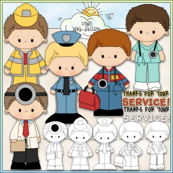 Thanks For Your Service Clip Art - Emergency Clip Art - CU