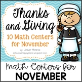 Thanks and Giving {10 Math Centers for November}
