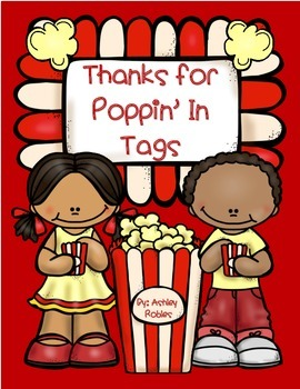"Thanks for Poppin"" In Tag"