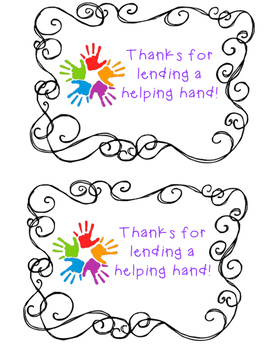 Thanks for lending a helping hand tags