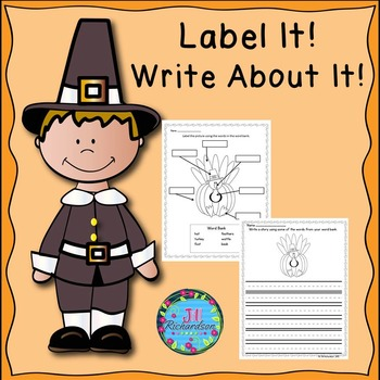 Thanksgiving Writing with Labels  ESL Activities