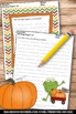 Thanksgiving Writing Paper ELA Activities Literacy Centers
