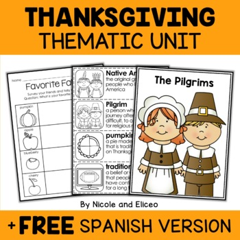 Thematic Thanksgiving Unit Activities
